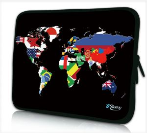 iPad hoes wereldkaart en vlaggen Sleevy