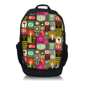 Sleevy 15.6 inch laptop rugzak kleurrijke symbolen