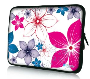 laptophoes 10 inch fleurige bloemen sleevy