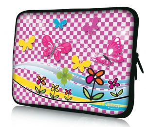 laptophoes 10,1 inch speelse vlindertjes sleevy