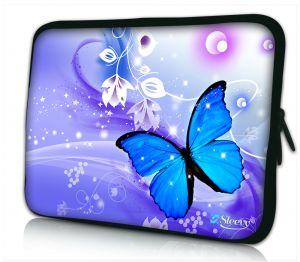 Laptophoes 11 inch blauwe vlinder Sleevy