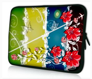 Sleevy 11,6 inch laptophoes macbookhoes rode bloemen