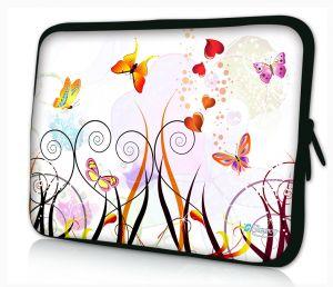 Sleevy 11.6 inch laptophoes macbookhoes gekleurde vlinders