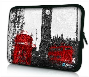 Laptophoes 13 inch artistiek Londen Sleevy