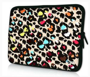 laptophoes 13.3 inch gekleurde panterprint Sleevy