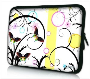 laptophoes 14 inch artistiek vlinder design Sleevy