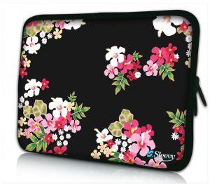laptophoes 14 inch gekleurde bloemen Sleevy