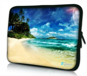 Laptophoes 14 inch tropisch eiland Sleevy