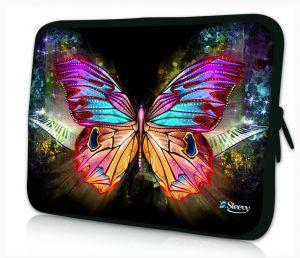Sleevy 15,6 inch laptophoes gekleurde vlinder