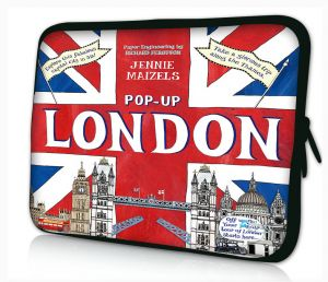 Sleevy 15,6 inch laptophoes pop-up Londen