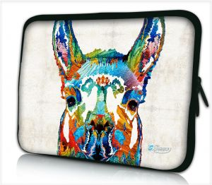 Laptophoes 17,3 inch lama artistiek - Sleevy