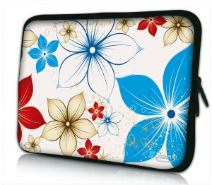 Sleevy 17,6 inch laptophoes macbookhoes zomerse bloemen