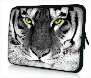 laptophoes 17.3 inch witte tijger sleevy
