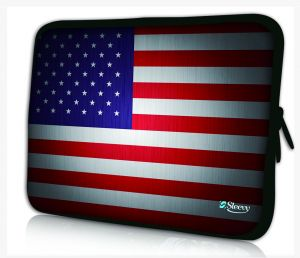 laptophoes 17.3 inch USA vlag sleevy