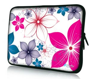 "Sleevy 15"" laptophoes bloemen"
