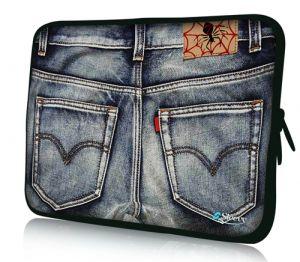 """Sleevy 15"""" laptophoes spijkerbroek"""