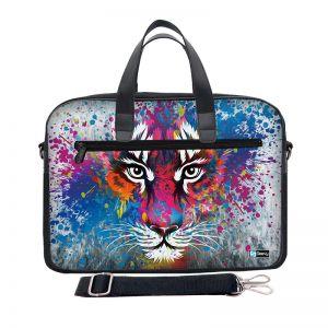 Laptoptas 15,6 inch / schoudertas tijger artistiek - Sleevy