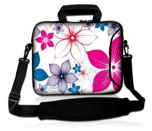 Sleevy 15,6 inch laptoptas fleurige bloemen