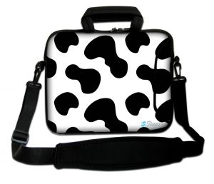 Sleevy 15,6 inch laptoptas koeienvlekken