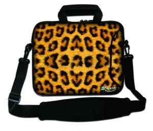 Sleevy 15,6 inch laptoptas luipaard print