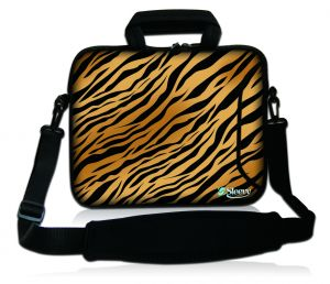 Sleevy 15,6 inch laptoptas tijgerprint