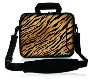 Sleevy 15,6 inch laptoptas tijgerprint