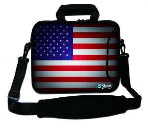Sleevy 15,6 inch laptoptas amerika vlag