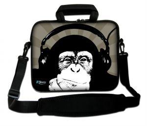Sleevy 15.6 inch laptoptas chimpansee