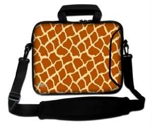 Sleevy 15,6 inch laptoptas giraffe print