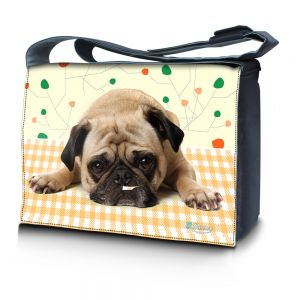 Sleevy 15,6 inch laptoptas schattig hondje