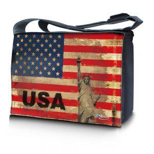 Sleevy 15,6 inch laptoptas USA design