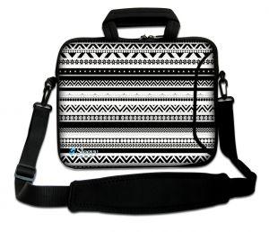 laptoptas 17 inch artistiek zwart wit  Sleevy