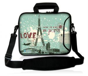Sleevy 17,3 inch laptoptas Love in Paris