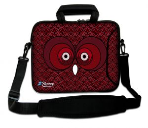 laptoptas 17 inch rode uil Sleevy