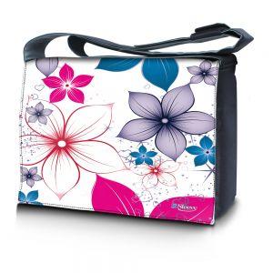 17,3 inch laptoptas fleurige bloemen Sleevy