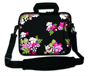 Sleevy 17,3 inch laptoptas gekleurde bloemen