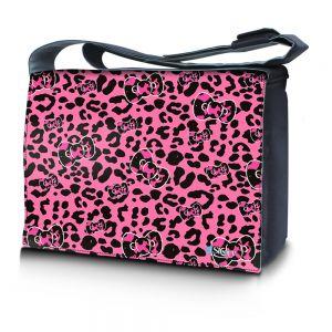 17,3 inch laptoptas roze panterprint Sleevy