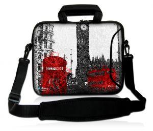 Sleevy 17,3 inch laptoptas artistiek Londen