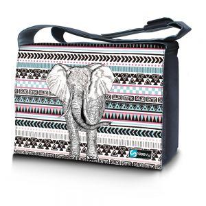 Messengertas / laptoptas 15,6 inch olifant en patroon - Sleevy