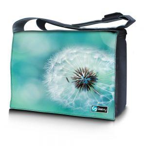 Messengertas / laptoptas 17,3 inch bloem close-up - Sleevy