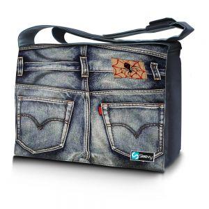 Messengertas / laptoptas 17,3 inch spijkerbroek - Sleevy