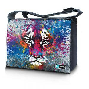 Messengertas / laptoptas 17,3 inch tijger artistiek - Sleevy
