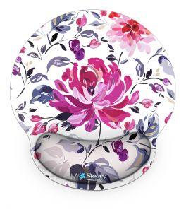 Muismat polssteun roze bloem - Sleevy