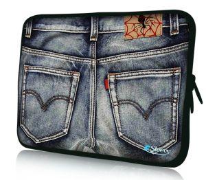 """Sleevy 11"""" laptophoes spijkerbroek"""