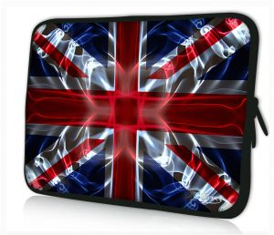 Sleevy 15 inch laptophoes Engelse vlag