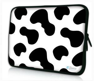Sleevy 14 inch laptophoes koeienvlekken