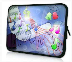 """Sleevy 11"""" laptophoes muzieknoten"""