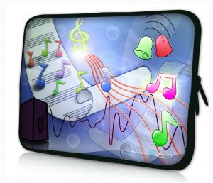 Sleevy 13,3 inch laptophoes muziek