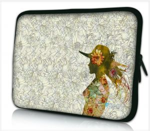 Tablet hoes / laptophoes 10,1 inch bloemen vrouw artistiek- Sleevy